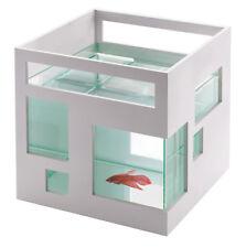 Umbra Fishhotel cubo Decorazione MINI ACQUARIO PICCOLO NANO ACQUARIO VETRO PLASTICA