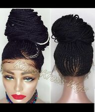 FULL LACE Wig /French braids Up style ponytail/bun IN STOCK NOW