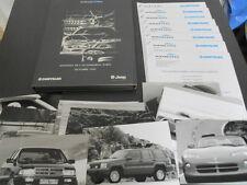 CHRYSLER + JEEP dossier de presse media press kit salon Mondial Paris 1992