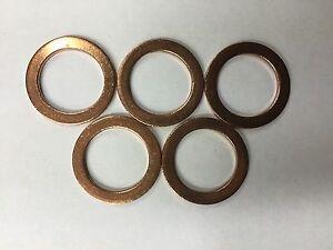 Set of 5: OEM Copper Engine Oil Drain Plug Gaskets 013-849-2 095-010 USA SELLER