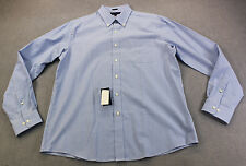 TOMMY HILFIGER Men BLUE WHITE CHECKER GINGHAM SLIM FIT DRESS SHIRT NWT 17  36-37
