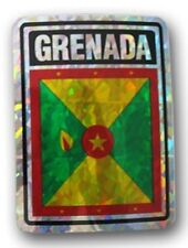 Wholesale Lot 12 Grenada Country Flag Reflective Decal Bumper Sticker