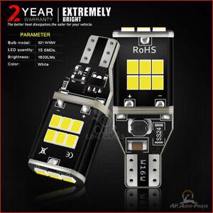2x Bulbs Backup Light 921 Reverse LED White 6000K For 2014-2020 GMC Sierra 1500