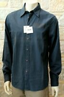 Moschino Jeans Authentic Men's 100% Cotton Blue Shirt Size L Free P&P New w Tag