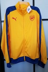Puma Men's AFC Arsenal T7 Track Jacket Spectra Yellow Size X-Large XL