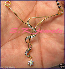 BRIDAL !!!! 0.58cts DIAMOND &14k GOLD WEDDING ANNIVERSARY MANGALSUTRA