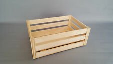 Plain Wood Crate Box Slatted Large Crates Fruit Storage Boxes Craft Decoupage