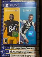 Madden NFL 19 / FIFA 19 Bundle PS4 2Disc BRAND NEW FACTORY SEALED FREE SHIPPING