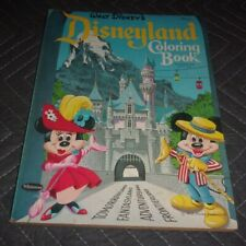 """1961 Walt Disney's """" Disneyland Coloring Book ~ Authorized Edition ~ 128 Pages"""