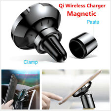 Car Air Outlet/Dash Qi Wireless Charger Magnetic Mount PhoneHolder Fast Charging