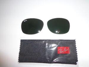 Rayban Sunglass Lenses RB 2132 New Wayfarer 55 Eye. Grey/G15 Glass Lenses