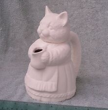 Ceramic Mrs. Kitty Pitcher, fired to 04, ready for glaze or paint