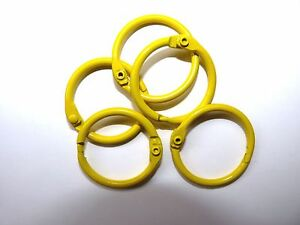 Binding Rings, 25mm Yellow and in Packs 4,10,20,50,100,and 250