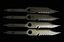 (4) Unfinished Wenoka Blackie Collins SeaStyle Scuba Diver Serrated Knife Blades