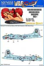 Kits World Decals 1/32 B-17G FLYING FORTRESS American Beauty