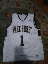 783b5af4c11 MEN S 90 s WAKE FOREST DEMON DEACONS   1 DODGER BASKETBALL JERSEY Tim  Duncan XL