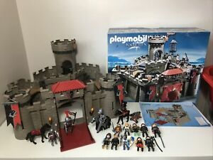 PLAYMOBIL 6001 Hawk Knights Castle Hidden Staircase Trapdoor Drawbridge + Extras