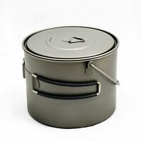 TOAKS Titanium 1300ml Pot with Bail Handle cooking cook camping survival