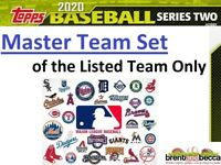 TORONTO BLUE JAYS 2020 Topps Series 2 MASTER TEAM SET (19) w/ Inserts + Chrome