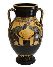 Achilles and Ajax - Exekias - Ancient Greek Amphora Vase- Vatican Museum Replica