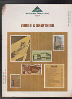 Georgia Pacific 1965 Siding & Sheathing Index Catalog