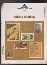Georgia Pacific 1965 Siding & Sheathing Index Catalog