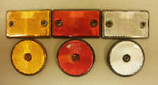 Red White Amber Round Square Reflector for Driveway Gate Fencepost Trailer Lorry