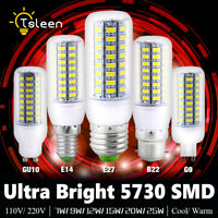 B22 E27 GU10 G9 E14 LED LUMIÈRE AMPOULE MAÏS SMD 5730 110V/220V LUSTRE 9W LAMP