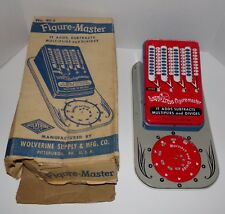 Vintage 1940's Tin Metal Calculator Figure-Master Wolverine No. 40-S VGC Rare
