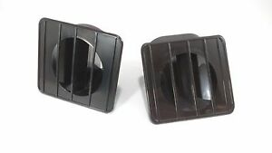 Black Inside Dash Defroster Duct Vents for 67-72 Chevy GMC Truck (Pair / Set)