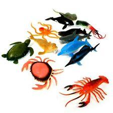 1 Meerestier aus Gummi, verschiedene Arten, 8 bis 15 cm, Meeresparty Tierfiguren