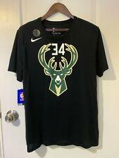 Nike Giannis Antetokounmp BUCKS Black Dri-Fit Player Name T-Shirt XXL with tags