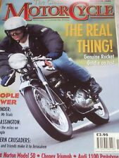 The Classic Motor Cycle 10/01 BSA Rocket Gold Star,Hesketh V1000, Norton Electra