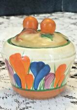 Antique Art Deco Clarice Cliff Bizarre CROCUS Pattern Jam/Jelly Jar Pot