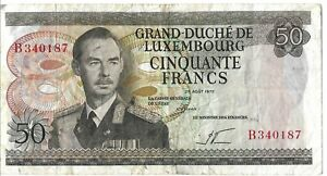 Luxembourg 50 Francs Banknote