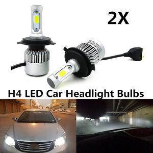 Pair 160W 6000K Car H4 LED Hi/Lo Dual Bulb Fog Driving Headlight Kit Waterproof