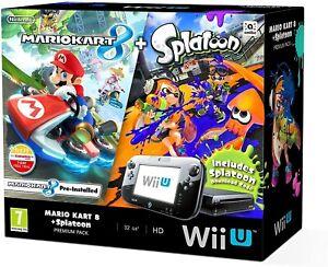 Nintendo Wii U 32GB Mario Kart 8 and Splatoon, Premium Pack - GamePad & SD Card