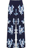 Ladies Womens Plus Size Wide Leg Floral Print Summer Palazzo Pants Trousers