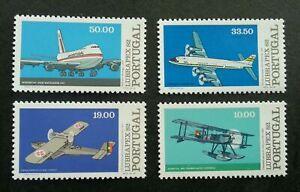 [SJ] Portugal Lubrapex 1982 Aviation Airplane Aeroplane Air Transport (stamp MNH