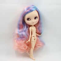 ICY Doll F&D Joint Body Long Colorful Hair 12 30cm eyes 4 Colors Change Nude