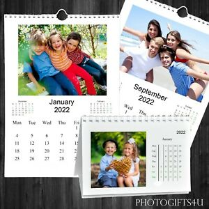 A4 Wall or A6 Desk Calendar Custom Printed & Personalised With Your Photos