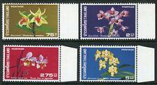 Thailand 1975 Orchids Set Scott # 745-8 Mint Non Hinged Y544 ��������