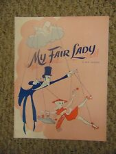 Julie Andrews My Fair Lady Play Program #M6205