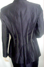 90s EXTE Italy Chic HIGH SHINE Linen SKIRT JACKET SUIT /PLEATED INSERTS Mint EUC