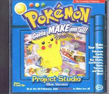 Pokemon Project Studio: Blue Version (PC, 1999, The Learning Company)