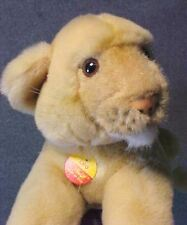 Adorable Steiff LEO Lion Cub Plush Animal Button In Ear