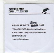 (DJ788) Ravens In Paris, Dirty Little Secret - 2012 DJ CD