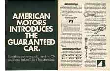1972 AMC / AMERICAN MOTORS - BUYER PROTECTION PLAN  ~  2-PAGE ORIGINAL PRINT AD