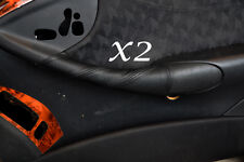 BLACK STITCHING FITS MERCEDES CLK W209 C209 02-09 2X DOOR HANDLE LEATHER COVERS