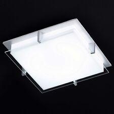 HONSEL Ceiling Light Tilo 1 FLG 39 x 39 cm Aluminium Glass Kitchen Corridor